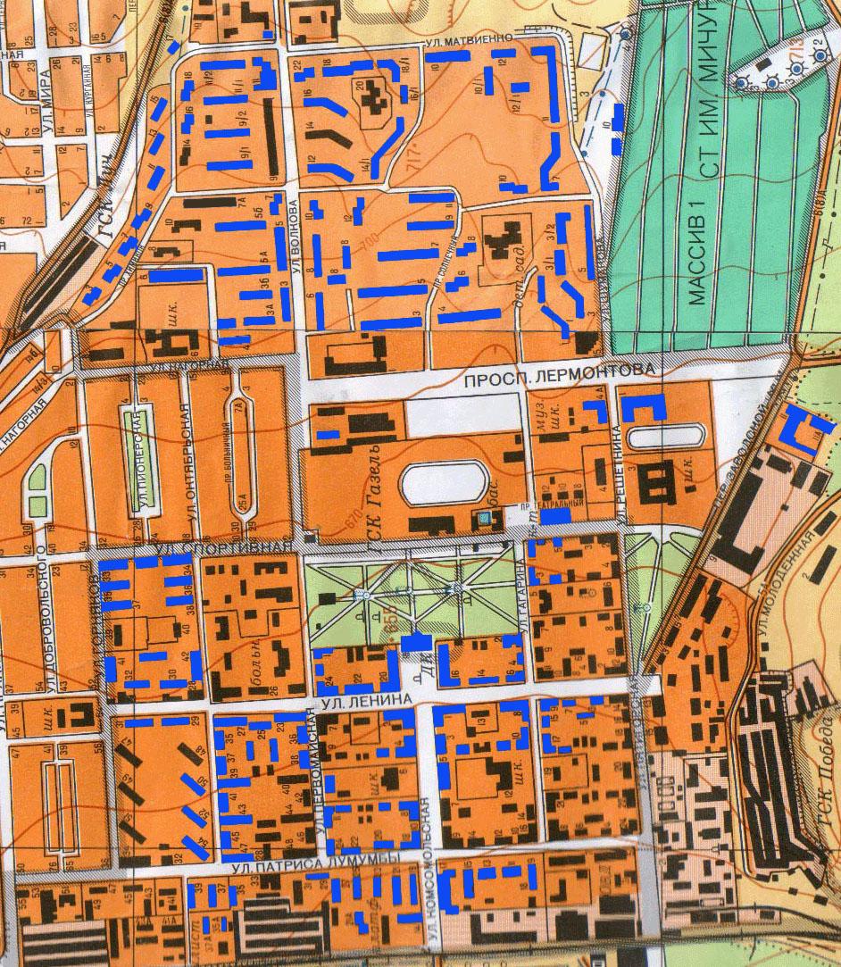 Схема городской компьютерной кабельной сети ЛеККС.
